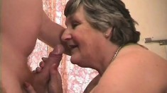 Mature chunky granny spreads her legs and hopes for a deep plowing