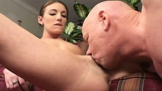Gorgeous young actress loses her breath during intense banging