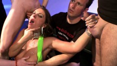 Lustful girls invite their partners to fill their mouths with semen