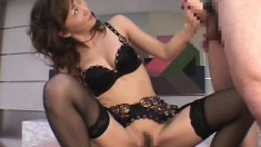 Sexy slim Japanese babe with impressive oral skills loves to swallow