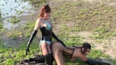 Naughty Lesbians Bettina And Birgit Please Each Other's Holes Outside