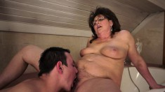 Chunky milf with a big booty Gigi confesses her passion for young meat