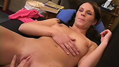 Sexy babe gets a lesson in hardcore lesbian sex from a professional