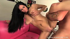 Hot insatiable Brylee gets fucked so hard she moans and squirts