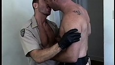 David Griffin and Kent Burke are playing leather fetish and cop