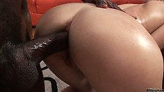 Now that all her holes have been ravaged this blonde gets an ass creampie