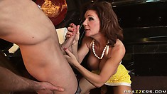 She teaches him how to slam pussy properly with her MILF experience