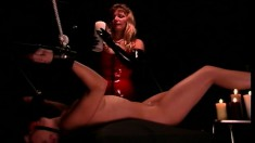 Pain slut gets her naughty ass beat red and then covered in wax