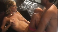 Hooker Brooke Banner blows and fucks one dude, then moves on to another