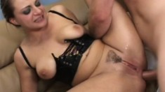 Gushing babe Nikki Nievez gets ravaged in every hole she has