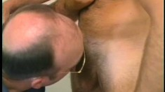 Kinky cop orders submissive guy Rob to suck on his meaty pole