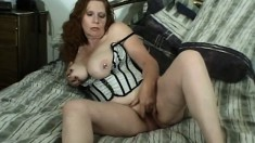 Luscious housewife with big hooters is in need of a black cock banging her snatch