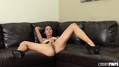 Dana Vespoli isn't sure what to do but getting naked is certainly a good start