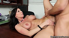 Marvelous milf with perfect tits Kendra Lust reveals her passion for big dick