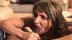 Provoking milf with a hot ass Jillian can't resist a big black stick
