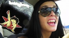 The crazy Lane sisters go for a drive and do nasty things outside