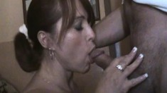 British Milf Blowjob and handjob