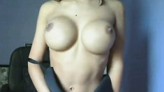 Striptease With Big Natural Boobs Babe