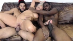 Milf with big boobs threesome