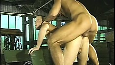 Hot young farmhand gets his sweet tailpipe stretched out by a stiff bone