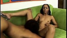Black hotties Krystal and Misty Stone explode in orgasmic pleasure together