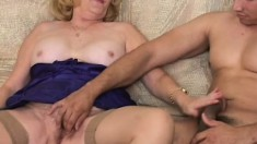 Granny loves to fuck and she seduces her grandson's best friend