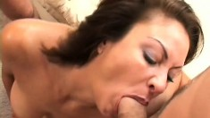 A Horny Milf Takes On Two Guys At Once