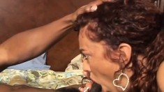 Chubby milf seizes the chance to fulfill her desires with a black stud
